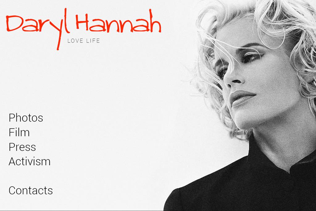 Daryl Hannah's Personal Website
